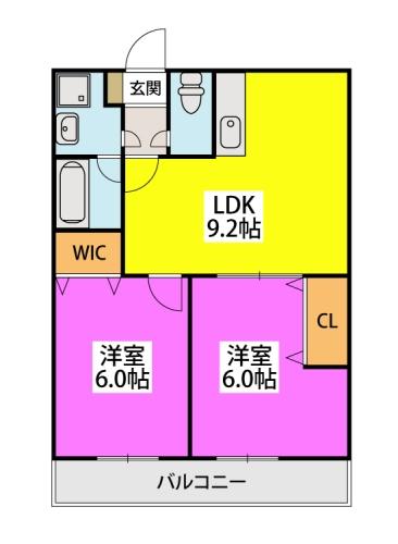 ※LEONE黒崎南 / 103号室間取り