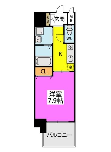 ※サンシャイン長崎街道黒崎 / 1202号室間取り