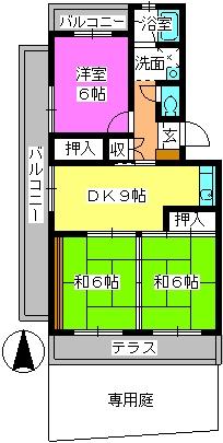 グリーンハウス水田 / 101号室間取り