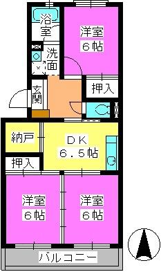 グリーンハウス水田 / 302号室間取り