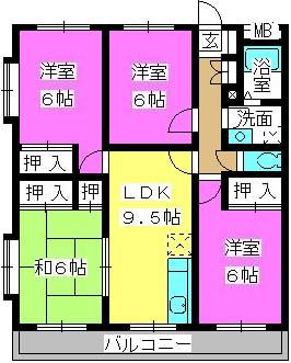 プログレス21 / 303号室間取り
