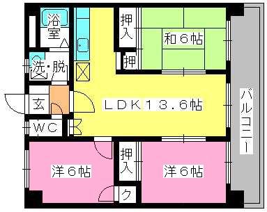 ロイヤルM42 / 705号室間取り