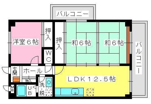ソフィア / 403号室間取り