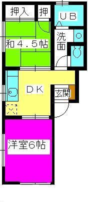 エム・ユー2(ペット可) / 102号室間取り