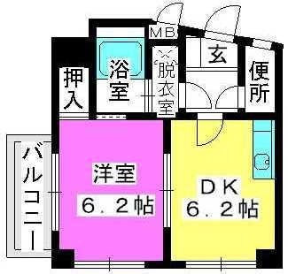エスポワール姪浜 / 201号室間取り