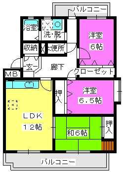 ルミエール石丸 / 201号室間取り