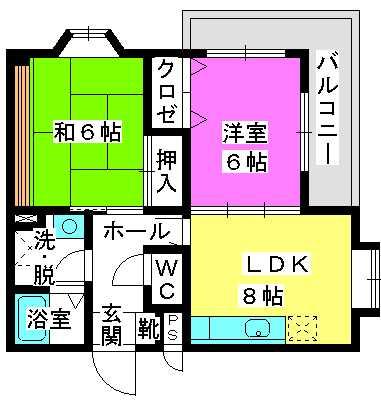 コンフォート姪浜 / 203号室間取り