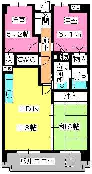 堀第2ビル / 503号室間取り