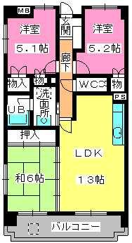 堀第2ビル / 505号室間取り