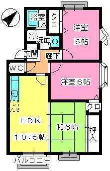 プレミール飯倉 / D4201号室間取り