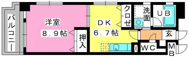 第5高島コーポ / 202号室間取り