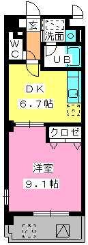 第5高島コーポ / 206号室間取り