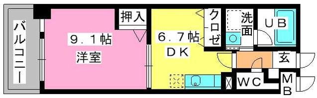 第5高島コーポ / 503号室間取り