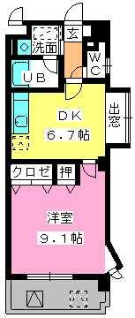 第5高島コーポ / 507号室間取り