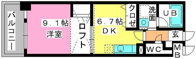 第5高島コーポ / 603号室間取り