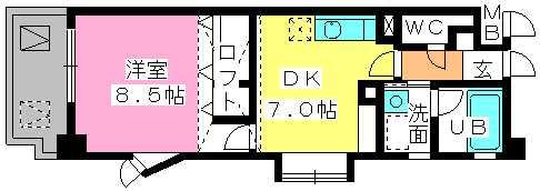 第5高島コーポ / 605号室間取り