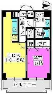 ファインエース小戸 / 207号室間取り