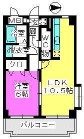 ファインエース小戸 / 410号室間取り