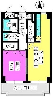 ファインエース小戸 / 502号室間取り