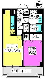 ファインエース小戸 / 605号室間取り