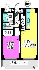 ファインエース小戸 / 708号室間取り