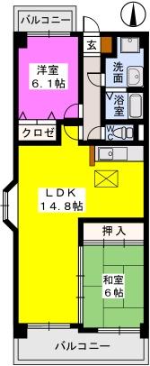 シーサイド小戸 / 301号室間取り