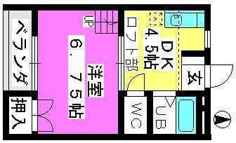 フルール松田 / 102号室間取り