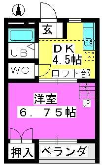 フルール松田 / 103号室間取り