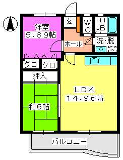プレミール石丸 / 201号室間取り