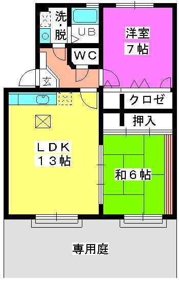 ロータスハイム有田 / 102号室間取り