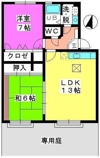 ロータスハイム有田 / 103号室間取り