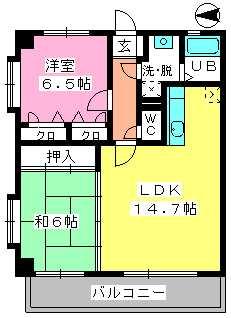 ロイヤルMⅡ / 207号室間取り