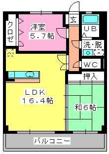 ロイヤルMⅡ / 603号室間取り