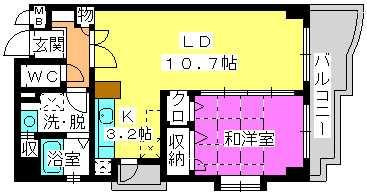 オークピア弥生 / 201号室間取り