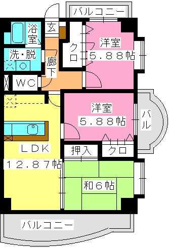 プレミール拾六町 / 701号室間取り