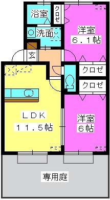 エトワール有田 / 105号室間取り