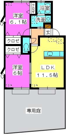 エトワール有田 / 111号室間取り
