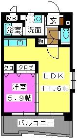 ボヌール福重 / 401号室間取り