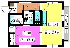 グリーンカーサ姪浜 / 201号室間取り