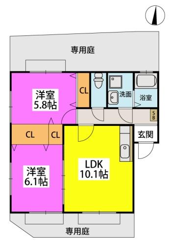 メロディハイツ飯倉 / C3101号室間取り