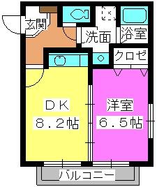 サニープレイスⅠ、Ⅱ / 1201号室間取り