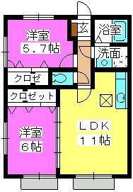 プランドール / 103号室間取り