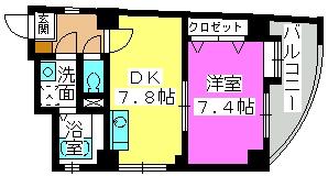 オークピア藤崎駅前 / 402号室間取り