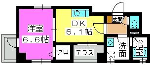 オークピア藤崎駅前 / 501号室間取り