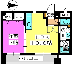 リスペクトガーデン / 501号室間取り