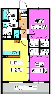 ソシア ハイネス / 1205号室間取り