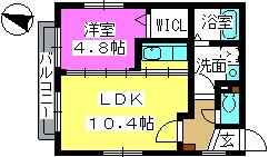 レ・スィス / 301号室間取り