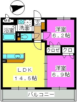 Mハウス / 302号室間取り
