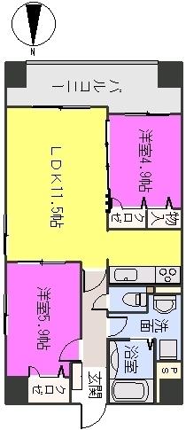 MM-5 / 203号室間取り