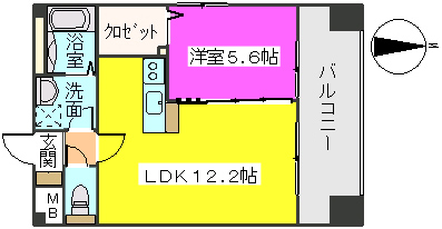 MM-5 / 906号室間取り